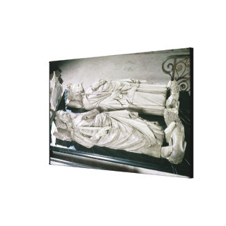 Effigies of Philippe III  the Bold and Philippe Canvas Print