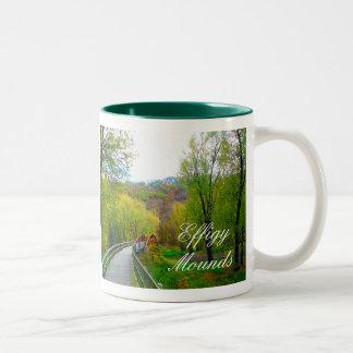 Effigy Mounds Footbridge over Yellow River, Iowa Two-Tone Coffee Mug