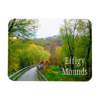 Effigy Mounds Footbridge over Yellow River Magnet