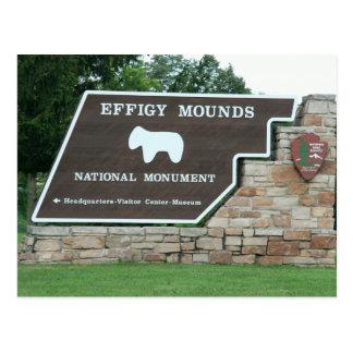Effigy Mounds National Park Entrance Postcard