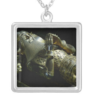 Effigy of Edward the Black Prince, 1376 Silver Plated Necklace