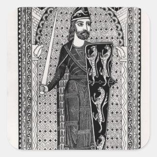 Effigy of Geoffrey Plantagenet Square Sticker
