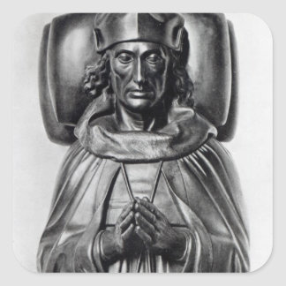 Effigy of Henry VII in Westminster Abbey Square Sticker