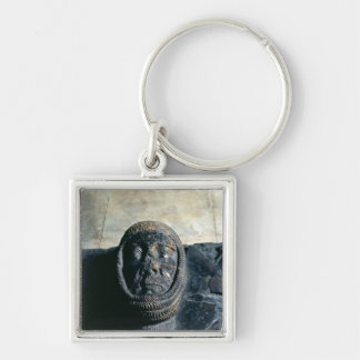Effigy of William Marshal  Earl of Pembroke Silver-Colored Square Keychain