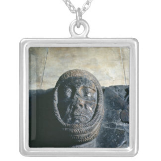 Effigy of William Marshal  Earl of Pembroke Square Pendant Necklace