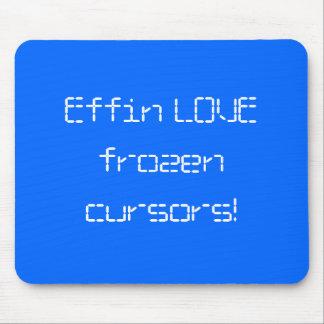 Effin LOVE frozen cursors! Mouse Pads
