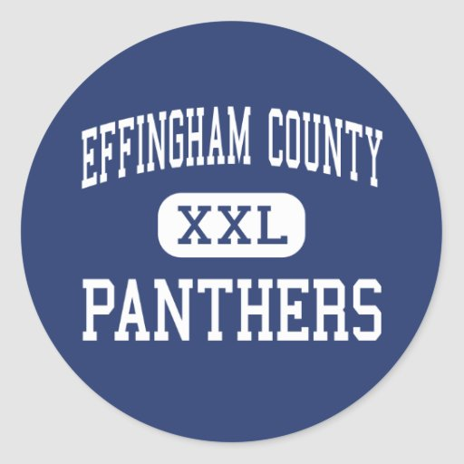 Effingham County Panthers Middle Springfield Round Sticker