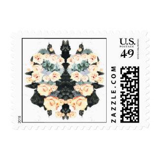 Effloresce Floral Burst Sol Postage Stamp