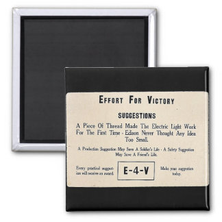 Effort For Victory Suggestions Refrigerator Magnets