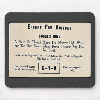 Effort For Victory Suggestions Mouse Pad
