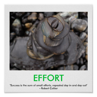 EFFORT motivational poster