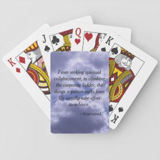 Effort to Achievement Poker Cards