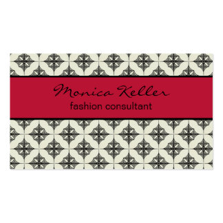Effortlessly Stylish Business Card, Magenta