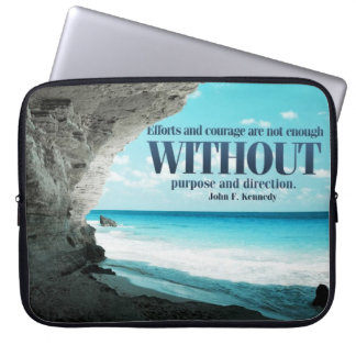 Efforts and Courage Custom Laptop Sleeve