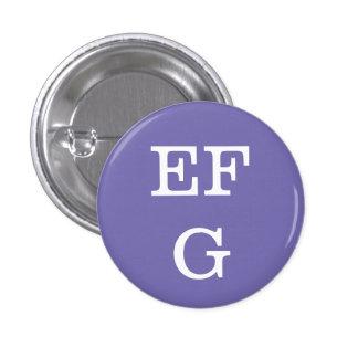 'EFG' Alphabet Collectible (#6) Pinback Button