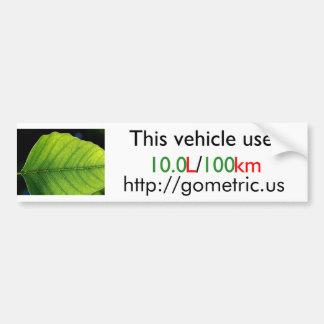 Eficacia del combustible Bumpersticker Pegatina Para Auto