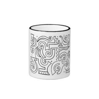 Eficiente animadamente aclamada burbujeante taza de dos colores