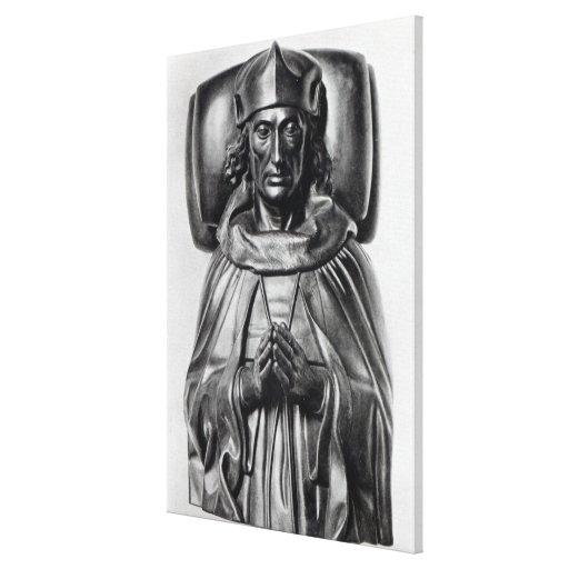 Efigie de Henry VII en la abadía de Westminster Impresión En Lona Estirada