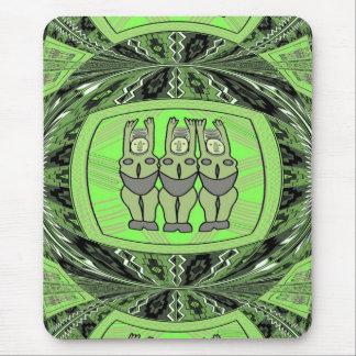 Efigie tribal de las mujeres - arte de Aftrican Tapetes De Ratones