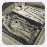 Efigies de Enrique II y Catherine de Medici Calcomania Cuadrada Personalizada