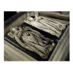 Efigies de Enrique II y Catherine de Medici Postales