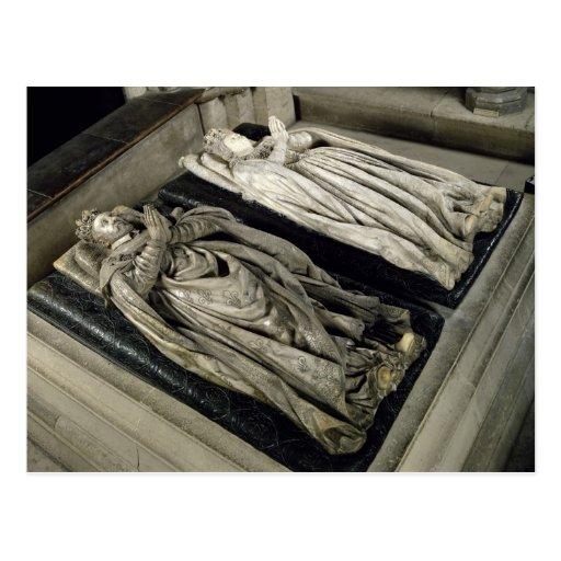 Efigies de Enrique II y Catherine de Medici Tarjetas Postales