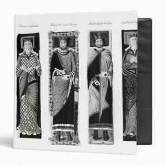 """Efigies de Henry II Eleanor de Aquitania Carpeta 1 1/2"""""""
