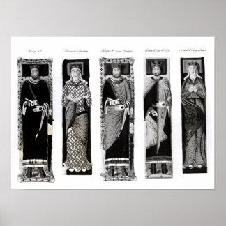 Efigies de Henry II Eleanor de Aquitania Poster
