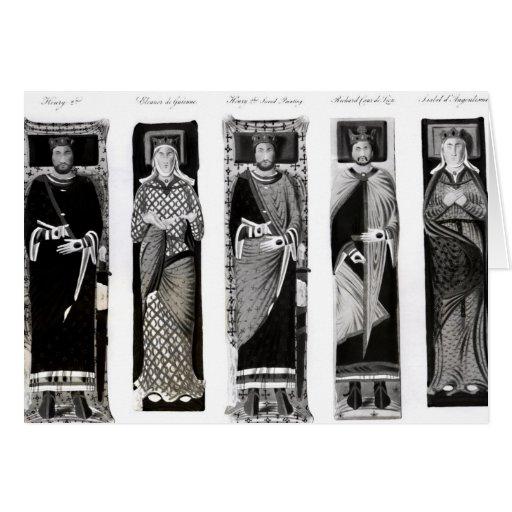 Efigies de Henry II Eleanor de Aquitania Tarjeta
