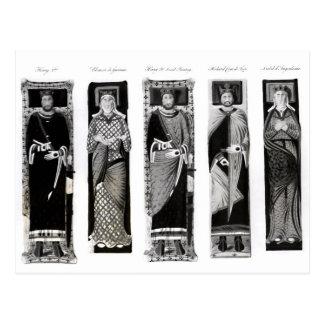 Efigies de Henry II Eleanor de Aquitania Tarjeta Postal