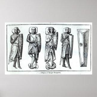 Efigies de los caballeros Templars Póster
