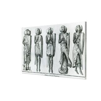 Efigies del caballero Templars Lona Estirada Galerías
