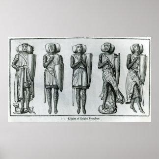 Efigies del caballero Templars Póster