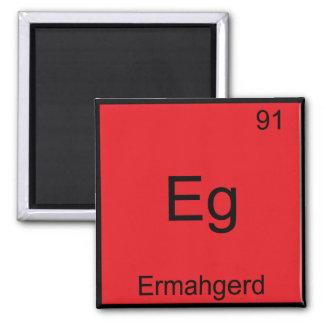 Eg. - Camiseta divertida de la química del element Imán Cuadrado