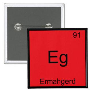 Eg. - Camiseta divertida de la química del element Pin Cuadrado