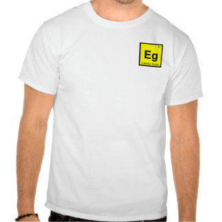 Eg - Electric Guitar Music Chemistry Symbol Tshirt