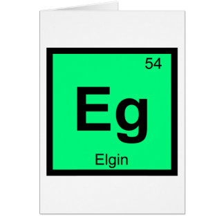 Eg - Elgin Illinois City Chemistry Periodic Table Card