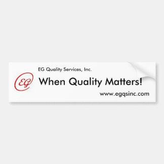 EG. Quality Services, Inc. Pegatina Para Auto