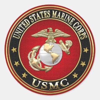EGA del USMC [edición especial] [3D] Pegatinas Redondas
