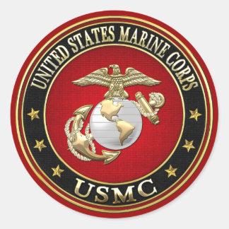 EGA del USMC [edición especial] [3D] Etiqueta Redonda