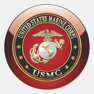 EGA del USMC [edición especial] [3D] Pegatina Redonda