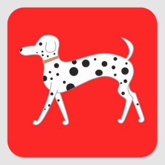 EGBF's Dalmatian Lucy Square Sticker