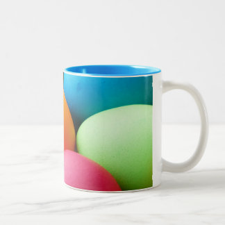 egg-100165 EGGY EGGS COLORFUL paint, color, colore Two-Tone Coffee Mug