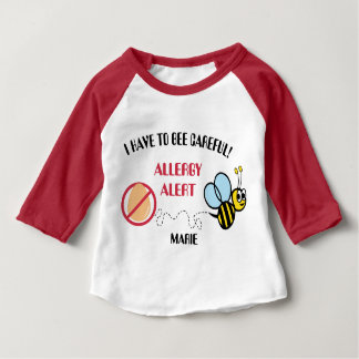 Egg Allergy Alert Bumble Bee Personalized Tee Shirt