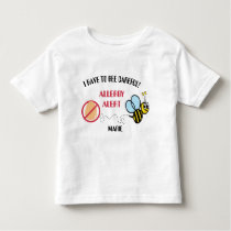 Egg Allergy Alert Bumble Bee Personalized Toddler T-shirt