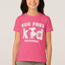 Egg Allergy Alert Girl Superhero Silhouette T-Shirt