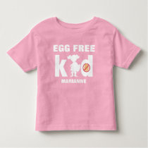 Egg Allergy Alert Girl Superhero Silhouette Toddler T-shirt