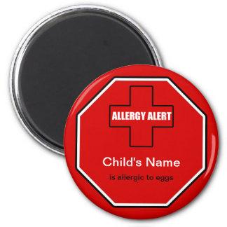Egg Allergy Medical Allergic Alert Std Magnet