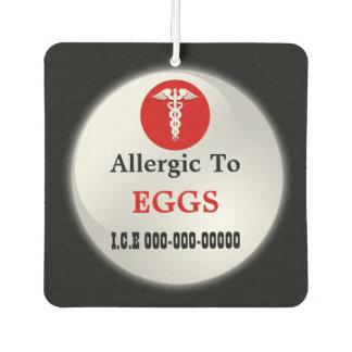 Egg allergy square   Medic alert Air Freshener