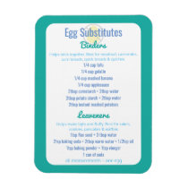 Egg Alternatives Reference Egg Substitutes Magnet